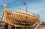 PHOTOGRAPHIE 15/10 CM du bateau LE RENARD lors de sa construction � SAINT MALO