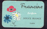 Carte Parfum - DOUCE FRANCE De FRANCINE - Paris - REMY Parfumerie Des Artistes à LIEGE - Perfume Cards