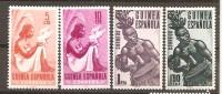 Guinea Española - Edifil 325-26, 328-29 - Yvert 346-47, 349-50 (MH/*) - Guinea Espagnole