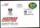 Österreich-   - FDC -1992  -  Mi.Nr.    2048    -    Olympische Winterspiele, Albertville; Olympische Sommerspiele, Barc - FDC