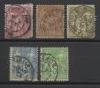 FRANCE - LOT DE 5 TIMBRES OBLITERES - TYPE SAGE - POUR ETUDE DES VILLES SUR CACHETS A DATE - 1876/98 - COTE YT: 28.00&eu - Sammlungen