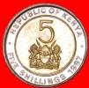 ★BI-METALLIC: KENYA★ 5 SHILLINGS 1997! MINT LUSTER! LOW START★NO RESERVE! - Kenya