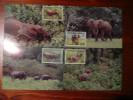 WWF Gabon Gabonaise Forest Elephant Waldelefant 1988 4 CM MK MC Maxi Maximum Cards Carte Maxicard Maximumkarte - Maximumkarten