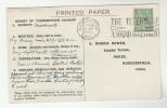 1932 Warrington GB Stamps COVER SLOGAN Pmk  TELEPHONE A SOUND INVESTMENT (postcard, Meteorology Report) Gv Telecom - Telecom
