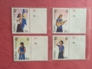 Tuvalu 1985 75th Ann Of Girl Guide Movement Playing Guitar Camping Flags Salute Stamps MNH SC 328-331 Michel 322-325 - Childhood & Youth