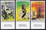 Norfolk Island 2005 Jazz Festival Sc 863-65 Mint Never Hinged - Ile Norfolk