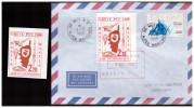 1 Timbre De Grève Bastia 1988 Sur Enveloppe Ayant Voyagé  + Un Timbre 2.20 Neuf  (PPP0813) - Strike Stamps