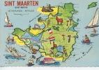 Sint Maarten (saint Martin) Netherlands Antilles - Géographique  (illustrateurs) N°77434 DJC Neuve - Antilles Neérlandaises