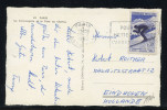 MAURY N°1326 : 30C  SKI CHAMONIX  SEUL S/CPE Pr  PAYS BAS  OM 29/7/62 - Marcophilie (Lettres)