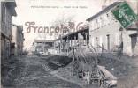 (32) Puycasquier - Place De La Mairie Hotel De Ville - Charrue - 2 SCANS - Francia