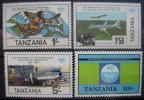 TANZANIA - IVERT Nº 247/50 - NUEVOS (**) - 40º ANIV. ORGAN. AVIACION CIVIL INTERN- (G83) - Tansania (1964-...)
