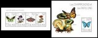 TOGO 2013 - Butterflies & Mushrooms - YT 3437-40 + BF721; CV = 32 € - Champignons