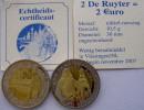NETHERLANDS 2 DE RUYTER 2007 = 2 EURO KU NI ZI BIMETALLIC UNC+COA CON GARANZIA. - Paesi Bassi