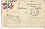 1914 - CARTE FM PEINTE à LA MAIN D´un SERGENT Du 121 RI à CALAIS - ARCHITECTE à MONTLUCON (ALLIER) !! RARE - Marcophilie (Lettres)
