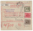 Kingdom SHS 1927 Sprovodni List - Parcel Card Zagreb - Derventa B151120 - 1919-1929 Regno Dei Serbi, Croati E Sloveni