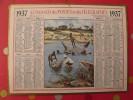 Almanach Des PTT.  Mayenne Laval. Calendrier Poste, Postes Télégraphes.1937. Chasse à L'hippopotame - Calendarios