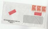 1967 EXPRESS SWEDEN COVER  Stamps 3x EFTA , Express Label - Sweden