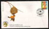 India  2007  Birds  Bird Nest  New Delhi  Special Cover.  # 68213  Inde Indien - Songbirds & Tree Dwellers