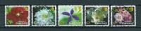 2004 Guernsey 5x GY Clematis Flowers,blümen Used/gebruikt/oblitere - Guernsey