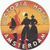 VICTORIA HOTEL  AMSTERDAM HOLLAND - Old HOTEL LUGGAGE LABEL ETIQUETTE ETICHETTA BAGAGE - Etiketten Van Hotels