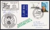 """ANTARCTIC, AAT, DAVIS,25.FEB 1994, Visit German """" Peter Sprunk """" , 3 Cachets + Sign , Look Scan !! 18.11-25 - Antarctische Expedities"""