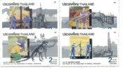 Thailand 1992 Set/4 Oil Dinosaurs Prehistoric  #1430-3 - Thailand