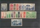 ANDORRE  Années 1948/51 N° Y/T 119/137**/* Côte: 150,00 €