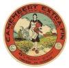 Ancienne étiquette Fromage Camembert  Extra Fin Fabriqué En Thierache  De Fresmy L'abbaye Fermiere - Formaggio