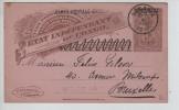 Belgisch Congo Belge CP 25 T C.P.I. 'Etat Indépendant Du Congo C.Sakania 4/1/1912 V.BXL PR2365 - Entiers Postaux