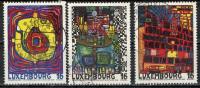 LUSSEMBURGO - 1995 - LUSSEMBURGO: CITTA´ EUROPEA DELLA CULTURA - DIPINTI DI F. HUNDERTWASSER - USATI - Usati