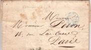 1840 LETTRE PARIS (15c).6è S.  MINISTÈRE DE LA GUERRE BUREAU DES LOIS EN ARCHIVES  / 6505 - 1801-1848: Précurseurs XIX