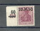 DR-Infla 157II Dgz RAND Durchgez**POSTFRISCH 60EUR (R2796 - Germany