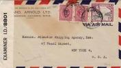 Alter JAMAIKA Brief 3 Fach Frankiert Mit Zensur - Antillen