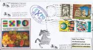 REPUBLIQUE TCHÈQUE/CZECH REPUBLIC. EXPO MILAN 2015,lettre Du Pavillon Tchèque, Tampon Jumelage Villes: Milan-Pardubice - Tsjechië