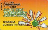 Fitzgeralds Casino Reno NV - 2001 ABC Bowling Tournament Slot Card (Printed) - Casino Cards