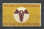 SCHWEIZ Switzerland 1932 Foire Suisse Bale Basel - Svizzera