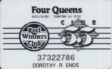 Four Queens Casino Las Vegas NV - 4th Issue Reel Winners Club 55 Slot Card - Casino Cards