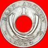 ★HOLE: EAST AFRICA ★ 1 CENT 1922H! LOW START ★ NO RESERVE! George V (1911-1936) - Britse Kolonie