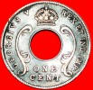 ★HOLE: EAST AFRICA ★ 1 CENT 1923! LOW START ★ NO RESERVE! George V (1911-1936)3 - British Colony