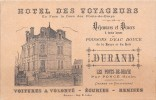 ¤¤    -   LES PONTS-de-BRAYE   -  Carte De Visite De L'Hôtel Des Voyageurs  -  Voir Description   - ¤¤ - Cartes De Visite