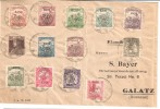 PRICE REDUCED Koloszny To Galatz 1918 - Rare Collectors Letter With Overprint - Occupazione