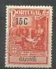 Portuguese Guinea - 1925 Marquez De Pombal Plans 15c MH *   Sc RA2 - Portuguese Guinea