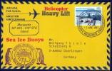 """ANTARCTIC, AAT, MACQUARIE,2.APR 1997, Helicopter-Flight """"Heavy Lift"""", 4 Cachets , Look Scan !! 18.11-13 - Antarctische Expedities"""