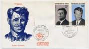 TCHAD => Enveloppe FDC => Président John. F. Kennedy / Sénateur Robert KENNEDY - Fort-Lamy - 20 Mai 1969 - Mali (1959-...)