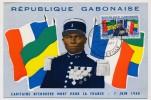 GABON - Carte Maximum => Capitaine Ntchorere, Mort Pour La France Le 7 Juin 1940 - Libreville - Nov 1962 - Gabon