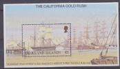 Falkland Islands 1999 The California Gold Rush M/s ** Mnh (26201K) - Falklandeilanden