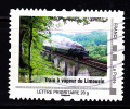 """Montimbramoi, Lettre Prioritaire.20gr """"Train à Vapeur Du Limousin"""" Used/oblitéré - France"""