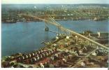 Aerial View Of Angus L. MacDonald Bridge  Joins Halifax And Dartmouth, Nova Scotia - Halifax