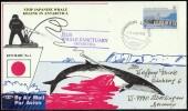 """ANTARCTIC, AAT, 5.AUG 1992, """" STOP JAPANESE WHALE KILLING """",  Cachets, Look Scans !! 18.11-26 - Antarctische Expedities"""
