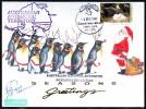 ANTARCTIC, AAT, 6.DEC 1992,  Christmas Greetings + Sign,  3 Cachets, Look Scans !! 18.11-28 - Antarctische Expedities